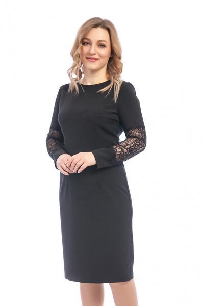 Платье с гипюровой вставкой, П-522/4